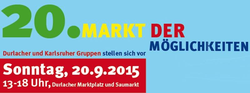 Markt der Möglichkeiten am verkaufsoffenen Sonntag in Durlach