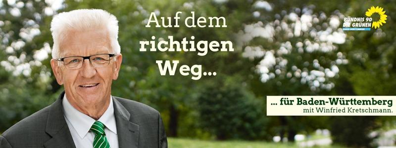Winfried Kretschmann kommt nach Karlsruhe