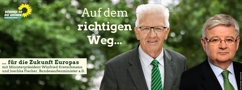 Auf dem richtigen Weg für die Zukunft Europas mit Winfried Kretschmann und Joschka Fischer