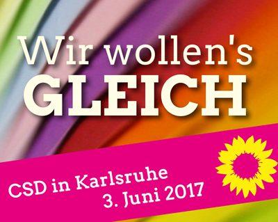 CSD 2017 in Karlsruhe @ Stephanplatz