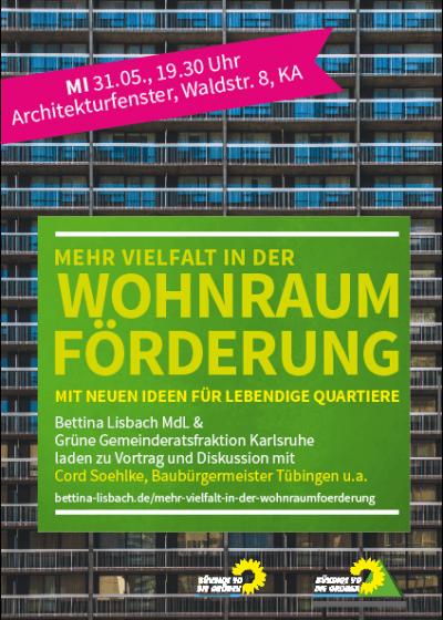 """Vortrag und Diskussion: """"Mehr Vielfalt in der Wohnraumförderung - Mit neuen Ideen für lebendige Quartiere"""" @ Architekturschaufenster"""