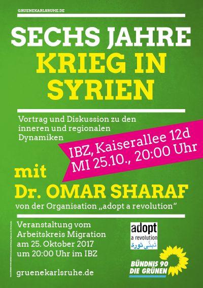 Vortrag und Diskussion: Sechs Jahre Krieg in Syrien - innere und regionale Dynamiken @ IBZ