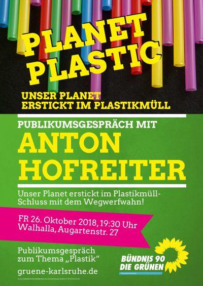 Anton Hofreiter: Publikumsgespräch zu Plastik und Verpackungsmüll @ Walhalla