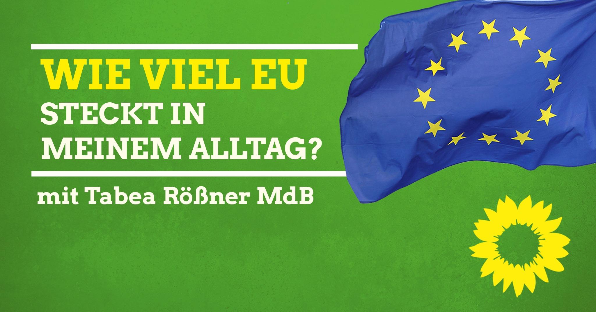 Wie viel EU steckt in meinem Alltag? – Vortrag und Diskussion mit Tabea Rößner MdB