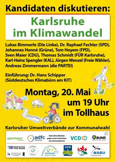 """PODIUM mit Johannes Honné auf Einladung der Umweltverbände / """"Stadtklima im Wandel"""" @ Tollhaus"""