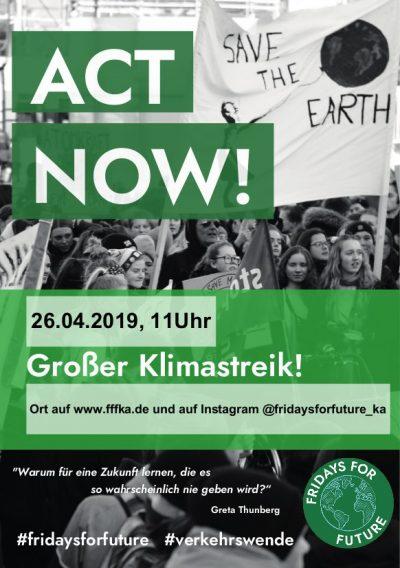 FridaysForFuture - Demo in Karlsruhe - Überparteilich für den Klimaschutz @ nn