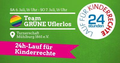 24h-Lauf für Kinderrechte - 16-16 Uhr - Team GRÜNE Uferlos @ Turnerschaft Mühlburg 1861 e.V.