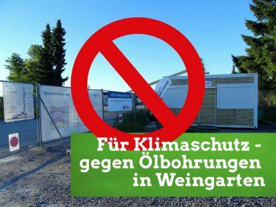 Infostand: Für Klimaschutz - gegen Ölbohrungen in Weingarten @ Haltestelle Europahalle