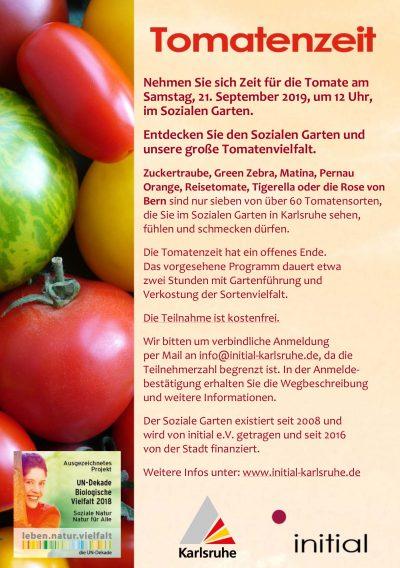 Tomatenzeit - Gemeinsame Fahrt zum Sozialen Garten von Initial @ Treffpunkt: Hauptbahnhof