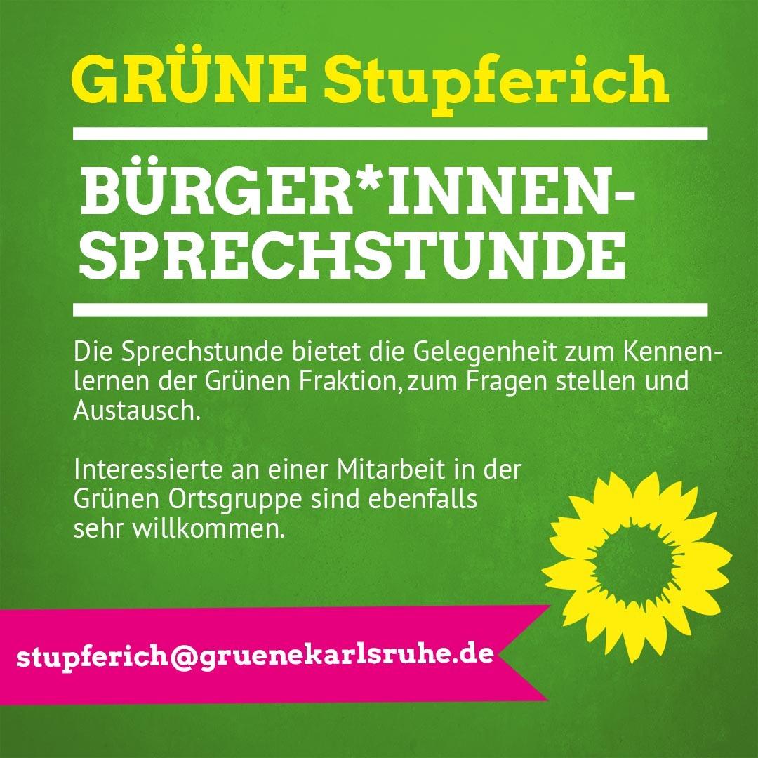 Stupferich – Bürger*innensprechstunde der Grünen Ortschaftsratsfraktion