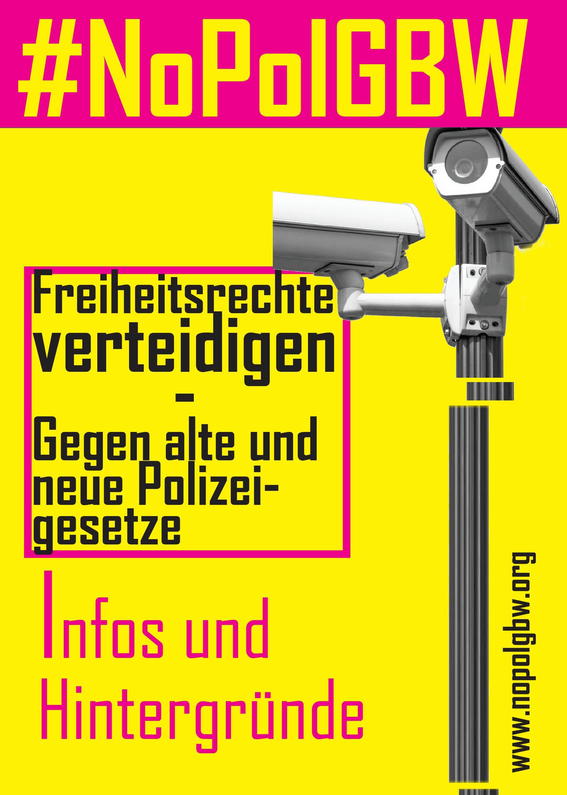 Karlsruher Grüne unterstützen den Aufruf gegen die Verschärfung des Landespolizeigesetzes