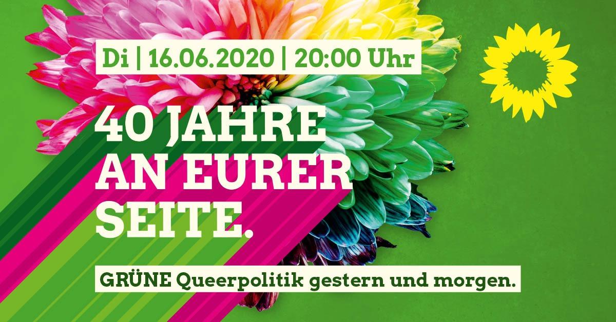40 Jahre an Eurer Seite: Grüne Queerpolitik gestern und morgen.
