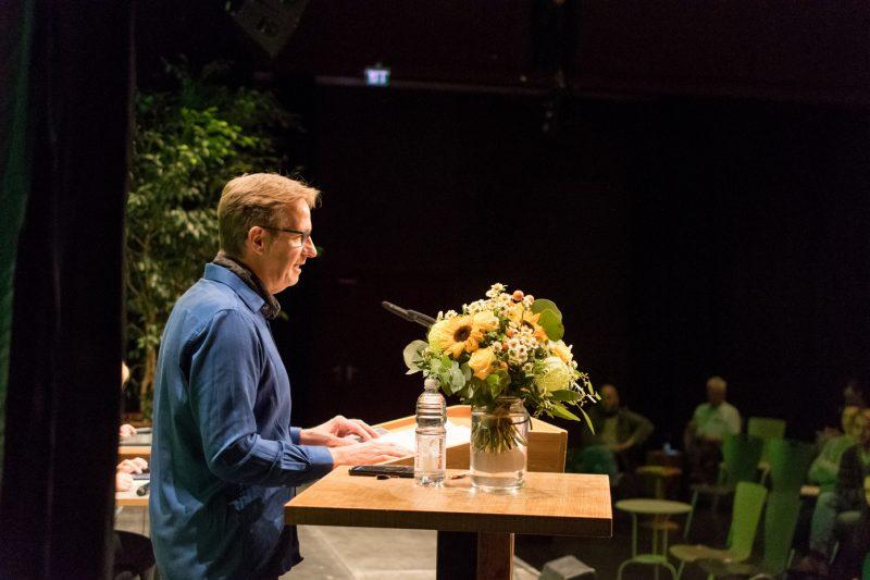 Thomas Wunderberg hält seine Bewerbungsrede