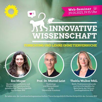 Innovative Wissenschaft: Forschungund Lehre ohne Tierversuche - Online-Veranstaltung @ online