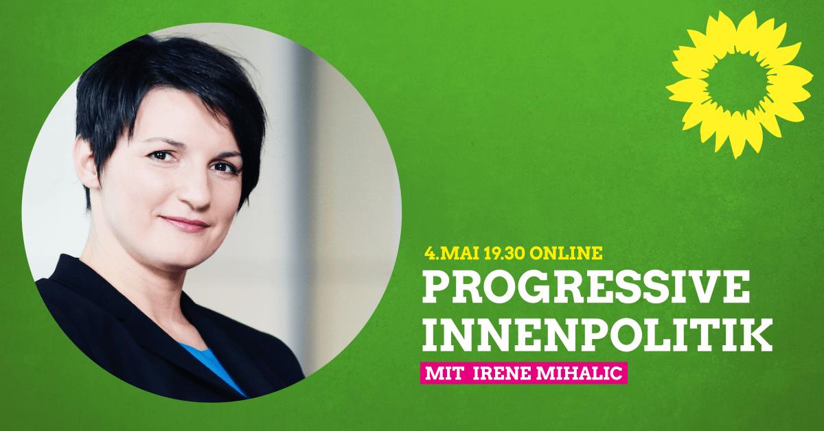 Online-Gespräch: Progressive Innenpolitik mit Irene Mihalic MdB