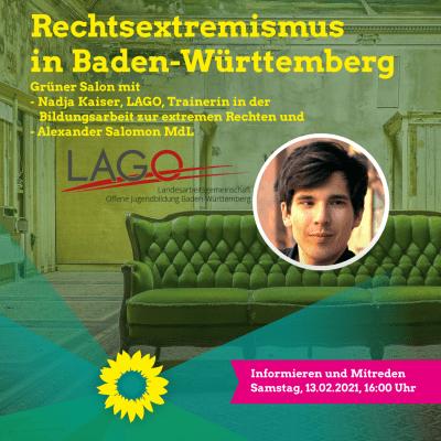 Sharepic der Veranstaltung Rechtsextremismus in Baden-Württemberg