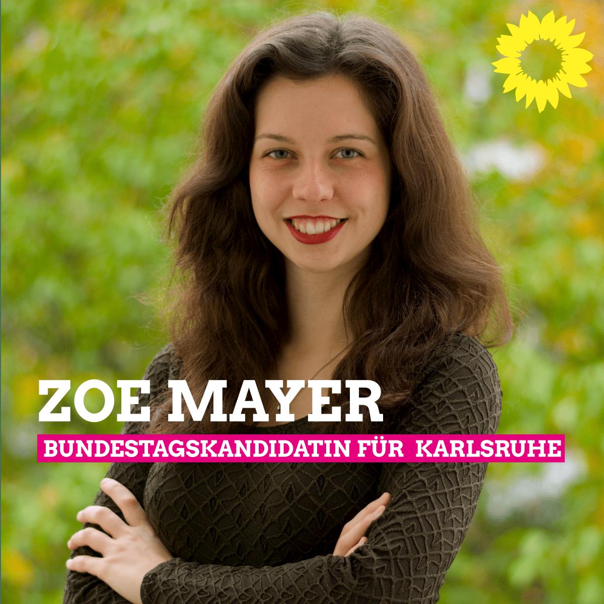 Zoe Mayer unsere Direktkandidatin zur Bundestagswahl 2021