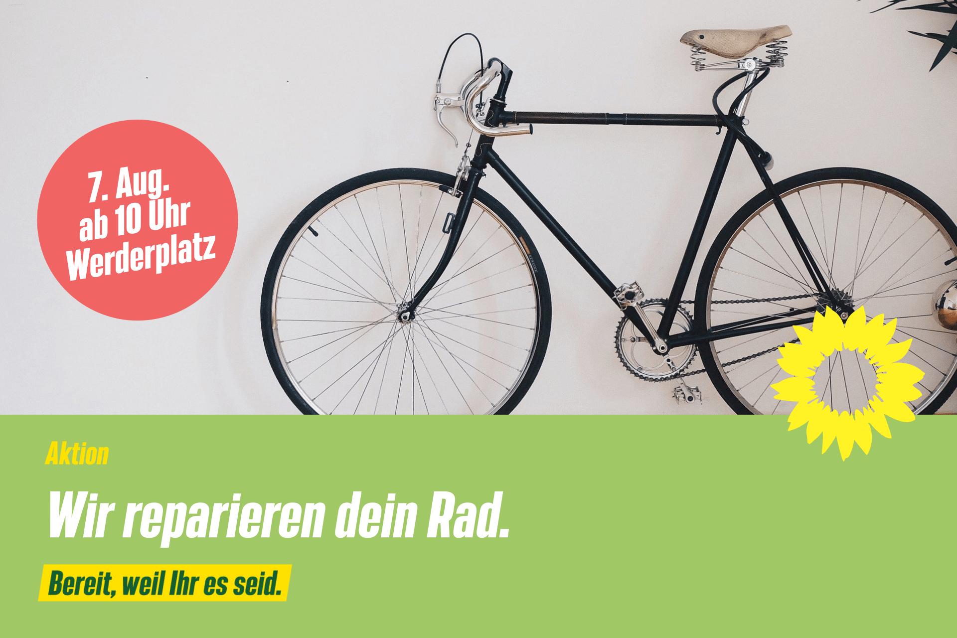 Klimaschutz praktisch – Wir reparieren dein Rad.